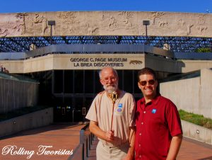 Mike Justin Regis enjoy the La Brea Tar Pits in Los Angeles CA 1 300x226 Guide to the SoCal Museums Free For All Program